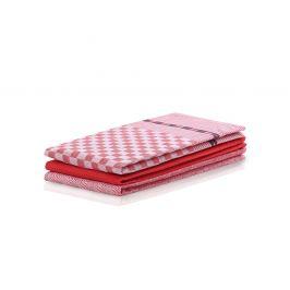 SET kuchyňských utěrek Louie červený 50x70 cm bavlna
