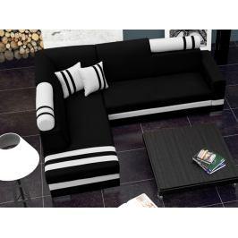 Rohová sedací souprava Raisa (černá + bílá) (L)