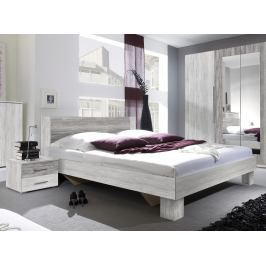 Manželská postel 160 cm Verwood Typ 51 (canyon světlá + tmavá) (s noč. stolky)