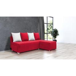 Rohová sedací souprava Briston (červená + polštáře)