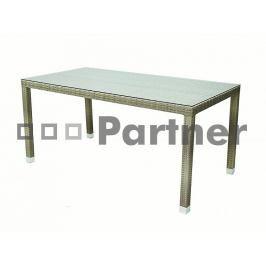 Zahradní stůl Napoli (šedobéžová) (um. ratan)