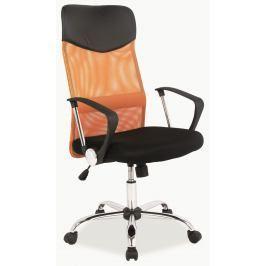 Kancelářska židle Q-025 oranžová + černá