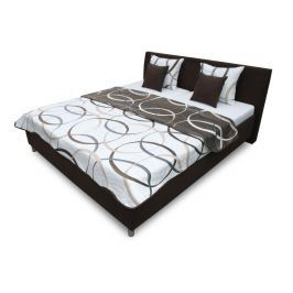 Manželská postel 180 cm Benab Montana (s rošty, přehozem a polštáři)