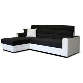 Rohová sedací souprava Ulm L+2F (černá + bílá) (L)