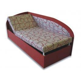 Jednolůžková postel (válenda) 90 cm Kamila (Cihlová 41 + Dodo 1008) (L)