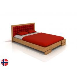Manželská postel 160 cm Naturlig Storhamar (buk) (s roštem)