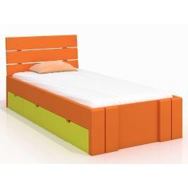 Jednolůžková postel 120 cm Naturlig Kids Tosen High Drawers (borovice) (s roštem)