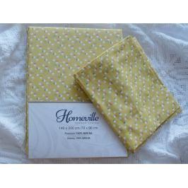 Homeville Homeville povlečení 100% bavlna Albertiina žlutá 140x200cm+70x90cm