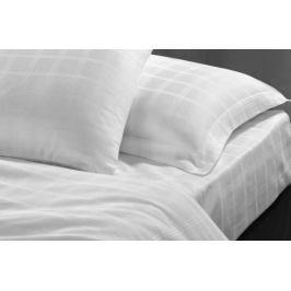 Homeville Hotelové povlečení z bavlněného saténu Felicity Check káro - bílá - 140x200 / 70x90 cm