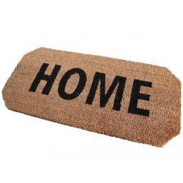 Home collection Kokosová rohožka se zkosenými rohy Home 33x70 cm hnědá