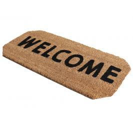Home collection Kokosová rohožka se zkosenými rohy Welcome 33x70 cm hnědá