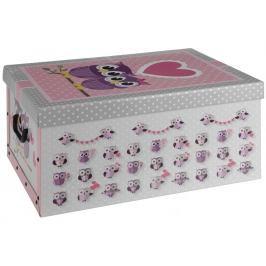 Home collection Úložná krabice dvojice sov se srdíčkem 51x37x24cm
