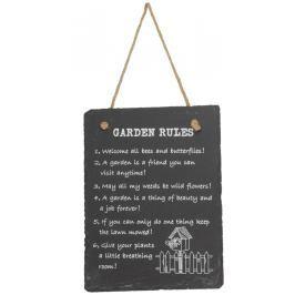 Home collection Home collection Domácí pravidla 15x20 cm - Garden rules