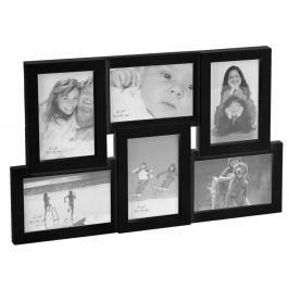 Home collection Rám na 6 fotek 45,5x29cm černá