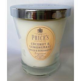 Price´s SIGNATURE vonná svíčka ve skle Coconut & lemongrass střední 425g