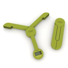 Joseph Joseph Skládací digitální kuchyňská váha zelená TriScale™