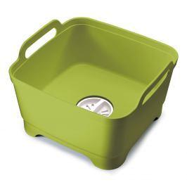 Joseph Joseph Plastový dřez na mytí nádobí s odtokem zelený Wash&Drain™