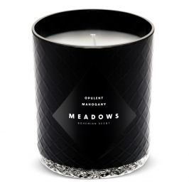 Meadows Vonná svíčka Opulent Mahogany medium černá