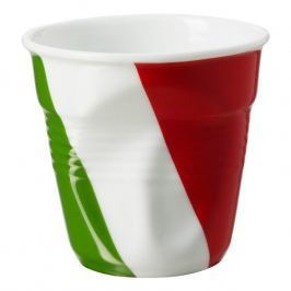 REVOL Kelímek na espresso 8 cl s italskou vlajkou Froissés