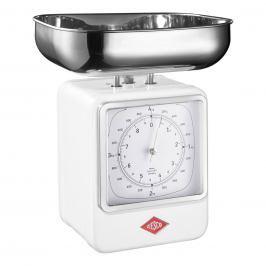 Wesco Kuchyňská váha s hodinami bílá