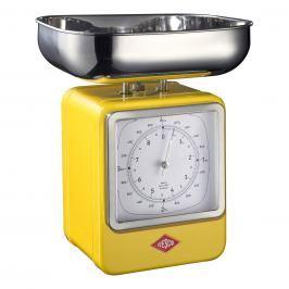 Wesco Kuchyňská váha s hodinami citronová