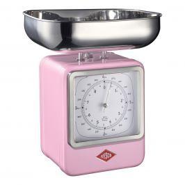 Wesco Kuchyňská váha s hodinami růžová