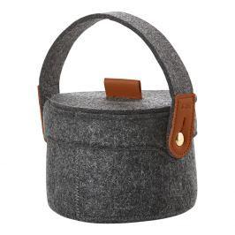 ZONE Úložný košík s uchem malý dark grey CRAFT