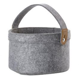 ZONE Úložný košík s uchem velký grey CRAFT