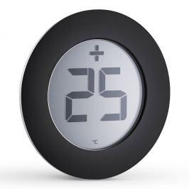 Eva Solo Digitální venkovní teploměr Ø 8 cm černý