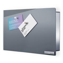 Blomus Skříňka na klíče s magnetickými dvířky VELIO šedá 20 x 30 cm