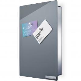 Blomus Skříňka na klíče s magnetickými dvířky VELIO šedá 30 x 20 cm