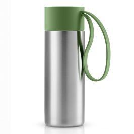 Eva Solo Nerezový termohrnek To Go s uzávěrem v rostlinné zelené 0,35 l