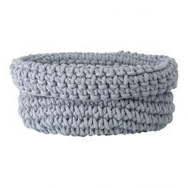 Blomus Pletený bavlněný koš COBO šedá