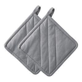 ZONE Sada 2x kuchyňská chňapka čtvercová grey