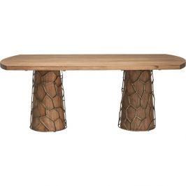 Jídelní stůl z akáciového dřeva Kare Design Brass
