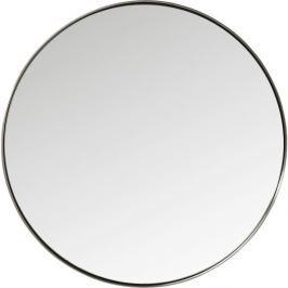Kulaté zrcadlo s černým rámem Kare Design Round Curve, ⌀100cm