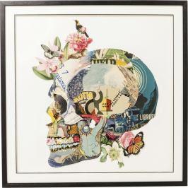Obraz Kare Design Art Skull, 100x100cm