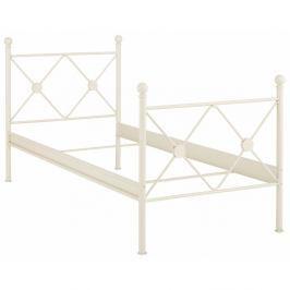 Bílá jednolůžková postel Støraa Johnson, 90x200cm