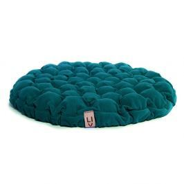 Tyrkysový sedací polštářek s masážními míčky Linda Vrňáková Bloom, ø75cm