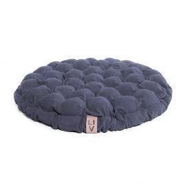 Modrošedý sedací polštářek s masážními míčky Linda Vrňáková Bloom, Ø65cm