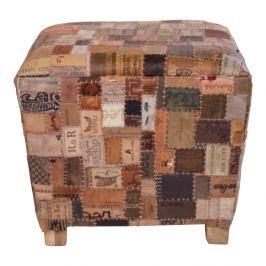 Kožená stolička z mangového dřeva House Nordic Timur