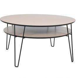 Konferenční stolek s černými nohami RGE Leon, ⌀100 cm