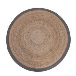 Jutový koberec se šedým okrajem LABEL51 Rug, ⌀150 cm