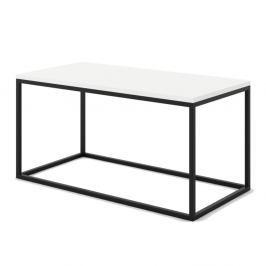 Velký bílý konferenční stůl z mramoru s černým podnožím Absynth Noi Brazil