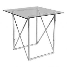 Chromovaný odkládací stolek RGE Cross, délka 55cm
