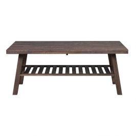 Tmavě hnědý dubový konferenční stolek Folke Brooklyn