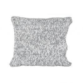 Šedobílý polštář Ego Dekor Double Knit,45x45cm