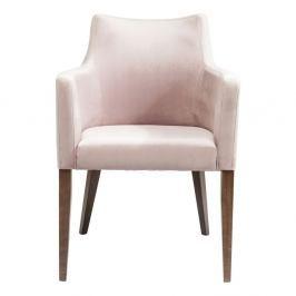 Světle růžové křeslo Kare Design Mode