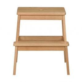 Přírodní dubová stolička/schůdky Rowico Gorgona