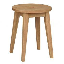 Přírodní dubová stolička Folke Gorgona, výška 44 cm